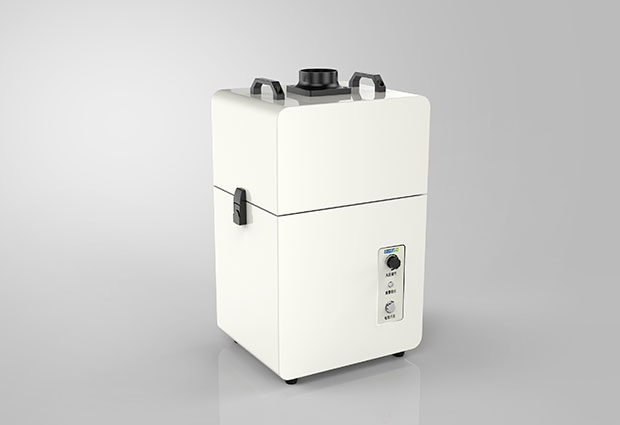 Laser marking smoke purification solution